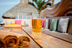 Mug of cold beer Royalty Free Stock Image