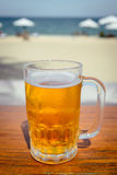 Mug of cold beer Royalty Free Stock Images