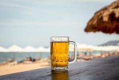 Mug of cold beer Stock Photos