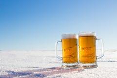 Mug of Cold Beer Stock Photography