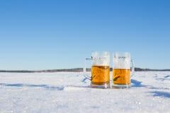 Mug of cold beer Royalty Free Stock Photography