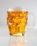 Mug Of cool Beer. Mug Of cold yellow Beer Royalty Free Stock Images