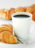 Mug and croissants Stock Photo