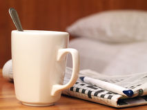 Mug and crossword Stock Image