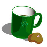 Mug with crown Royalty Free Stock Image
