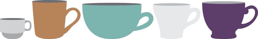 Mug & Cup Border Royalty Free Stock Images