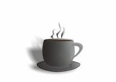 Mug, cup. Mug, grey mug, mug with hot tea, a mug of hot coffee, the aroma, mug with saucer Stock Photo