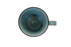 Mug cups on white background top view. Mug cups isolated on white background top view Stock Images