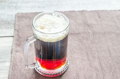 Mug with dark beer Royalty Free Stock Photography