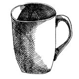 Mug drawn in ink Stock Image
