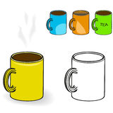 Mug with drink Stock Photos