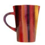 Mug with Fabric Print Isolated on White Background Stock Photo