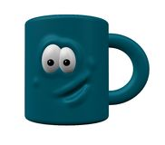 Mug with face Royalty Free Stock Photo