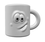 Mug with face Royalty Free Stock Photography