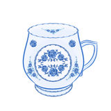 Mug of faience part of porcelain vector Stock Photo