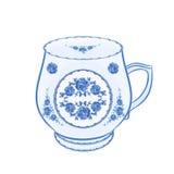 Mug of faience part of porcelain vector. Illustration Stock Photo