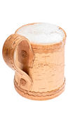 Mug with foamy hat Stock Images