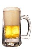Mug fresh beer with cap of foam Stock Image