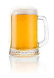 Mug fresh beer with cap of foam  Stock Image