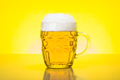 Mug with fresh, foamy beer Royalty Free Stock Photo