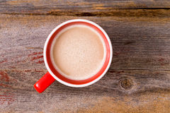 Mug of fresh hot latte morning coffee Royalty Free Stock Images