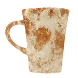 Mug with Frosted Spice Cake Texture Isolated on White Background Royalty Free Stock Photography