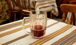 Mug of fruit drink Stock Images