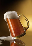 Mug full of beer Royalty Free Stock Photo