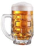 Mug full of fresh beer. Stock Image