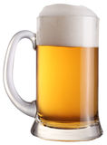 Mug full of fresh beer. File contains a path to cut. Stock Photo