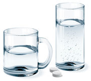 Mug and glass of water Royalty Free Stock Photos