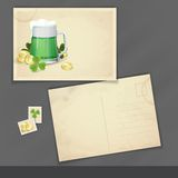 Mug Of Green Beer For St Patrick's Day. Stock Image