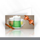 Mug Of Green Beer For St Patrick's Day. Royalty Free Stock Photos