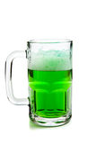 Mug of green beer on white Stock Photography