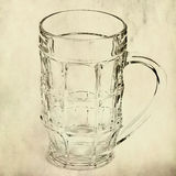 Mug on grunge background Royalty Free Stock Photography
