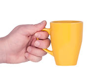 Mug in hand. Royalty Free Stock Images