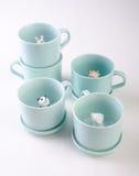 mug or handmade animal ceramic mug on background. Stock Photos