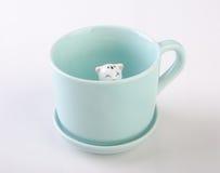 mug or handmade animal ceramic mug on background. Royalty Free Stock Image