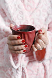 Mug in hands Royalty Free Stock Photos