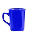 Mug high dark blue Stock Photo