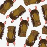 Mug of the horse pattern. Mug of the horse on white background is insulated Stock Photos
