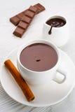 Mug of Hot Chocolate with Cinnamon Stock Images