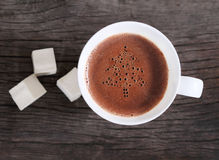 Mug of hot chocolate or cocoa with marshmallows Stock Photo