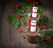 Mug of hot chocolate with marshmallows Stock Photography