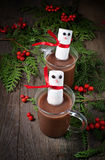 Mug of hot chocolate with marshmallows Royalty Free Stock Image