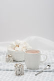Mug Of Hot Chocolate. Marshmallows And Sweets Stock Images