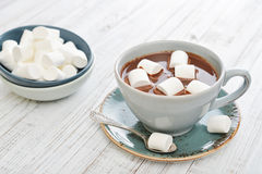 Mug with hot chocolate Stock Photo