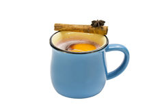 Mug of hot mulled wine Royalty Free Stock Photos