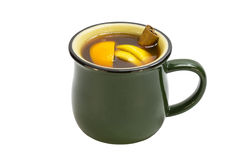 Mug of hot mulled wine Stock Photos