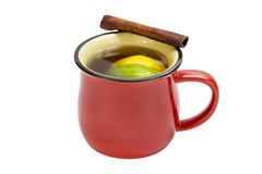Mug of hot mulled wine Stock Photography